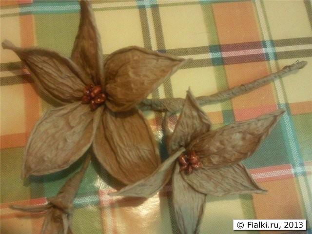 Цветы своими руками из шпагата