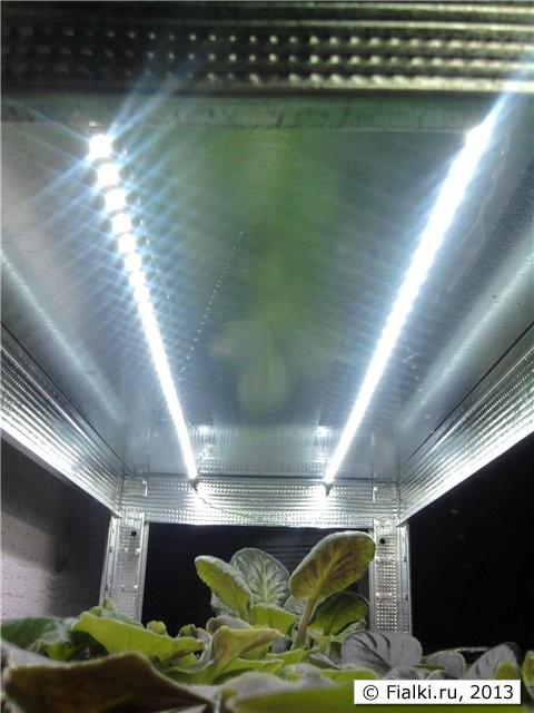 Подсветка рассады светодиодными лентами своими руками видео