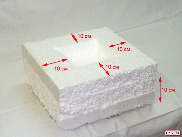 Толщина стенок - 10 см